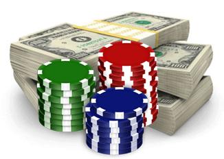 dólares estadounidenses y fichas para casinos en dólares estadounidenses