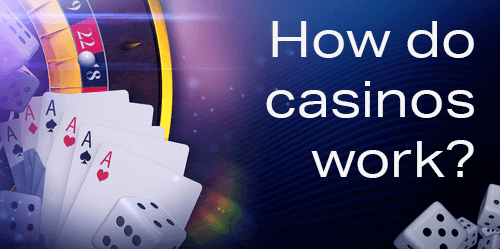 How Do Online Casinos Work - Illustration of Roulette wheel, dice, and playing cards