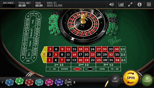 Nuevos juegos de ruleta en línea: captura de pantalla de la mesa de ruleta digital