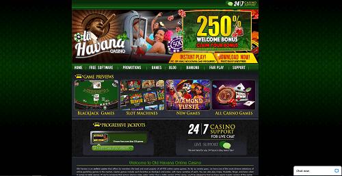 Old Havana Casino Homepage