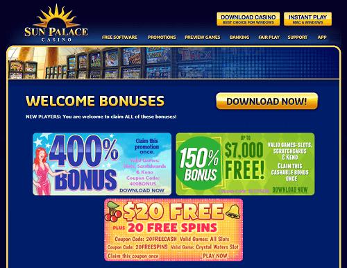 Sun Palace Casino Promotions