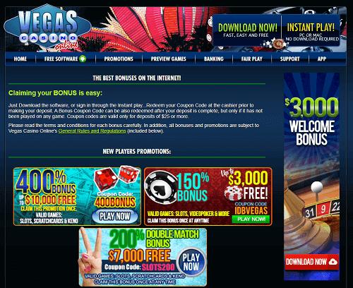 Vegas Casino Online Rating