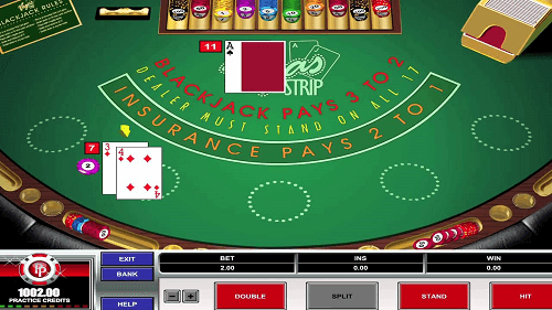 Mesa de blackjack Vegas Strip