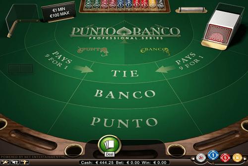 Virtueller Tisch von Punto Banco