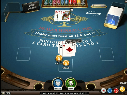 Comment jouer au Pontoon Blackjack