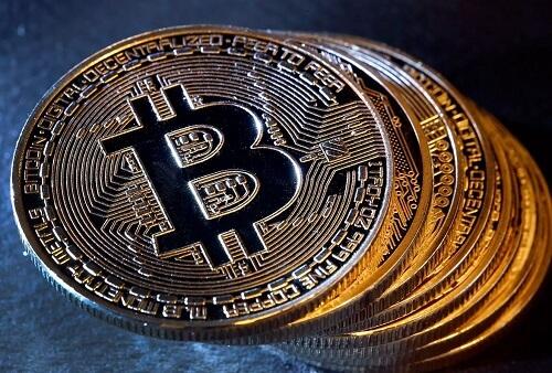 gold Bitcoin coins