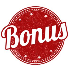 red casino bonus sign