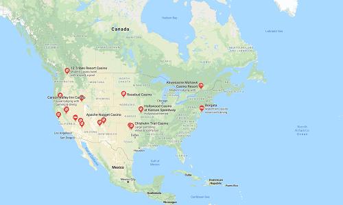US Local casinos map