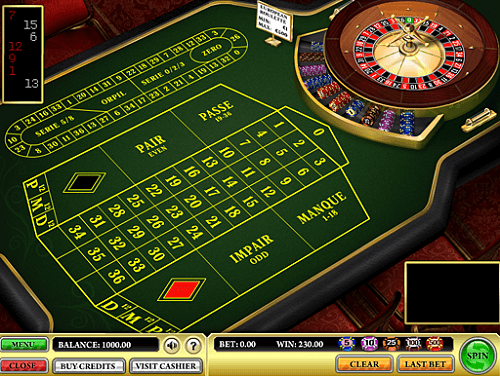 french roulette wheel and table
