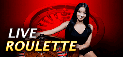 live roulette dealer with roulette wheel