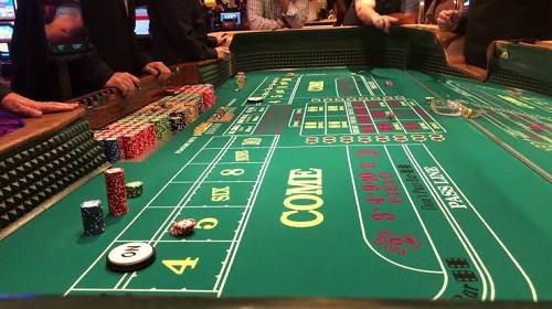 craps table at casino