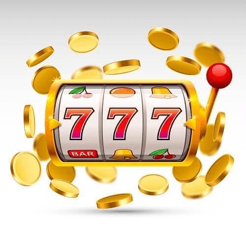 Casino Spielautomat Tipps - Illustration von Drei-Rollen-Slot mit Münzen