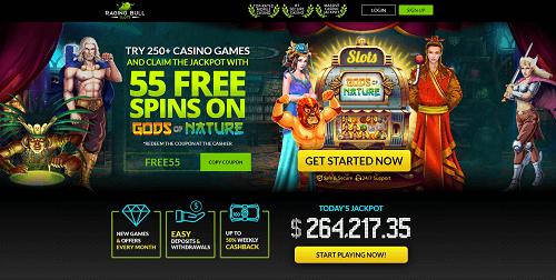 Best Raging Bull Casino Rating - Screenshot of Casino Lobby