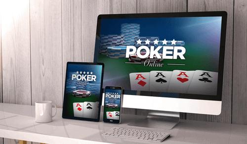 Foto del juego de póker en computadoras de escritorio, tabletas y teléfonos inteligentes