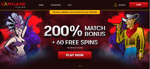 DomGame Casino Homepage