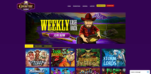 High Country Casino Homepage