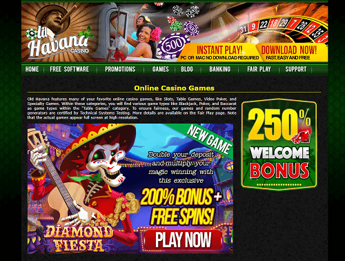 Old Havana Casino Games