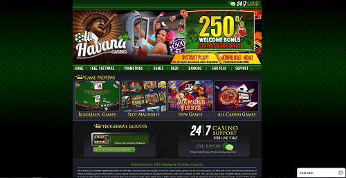 Old Havana Casino Homepage