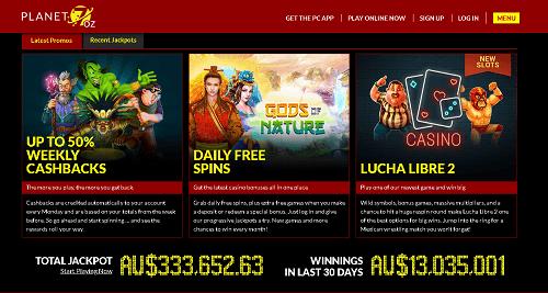 Planet 7 OZ Casino Promotions