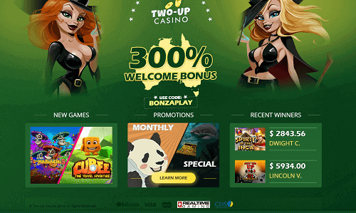 Two-Up Casino Bonus New