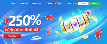 FreeSpin Casino Homepage