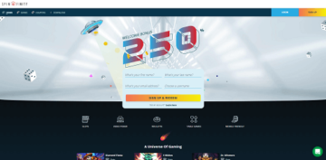 Spinfinity Casino Homepage