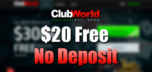 Club World Casino No Deposit