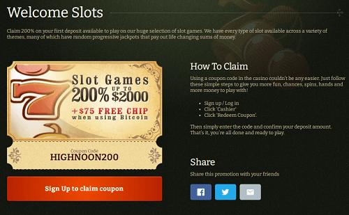High Noon Casino Offer
