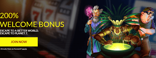 Planet7 Casino Offer