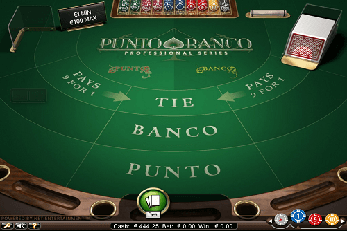 Punto Banco Virtual Table
